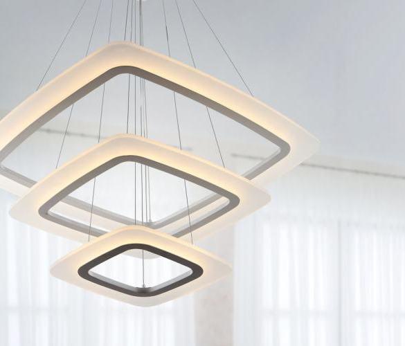 lampa wisząca trzy kwadraty