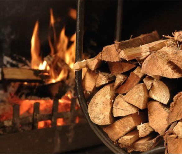 drewno kominkowe, kominek,