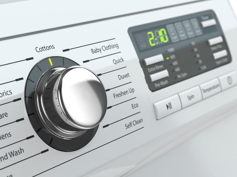 panel przycisków pralki