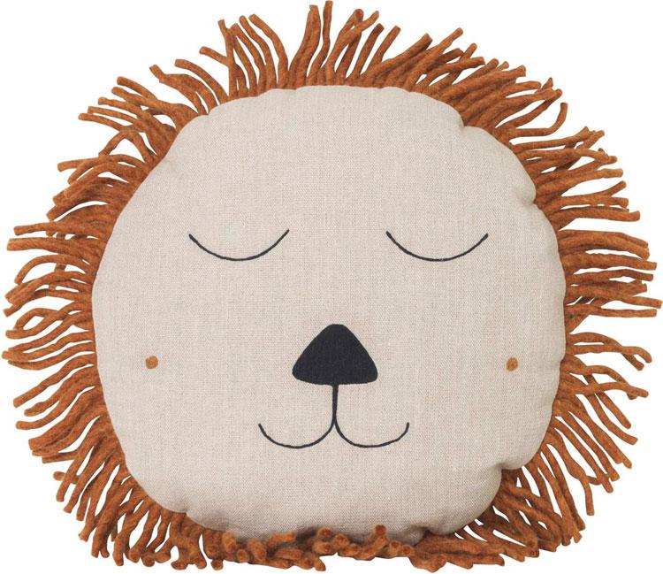 Poduszka dekoracyjna do pokoju dziecka. Głowa lwa