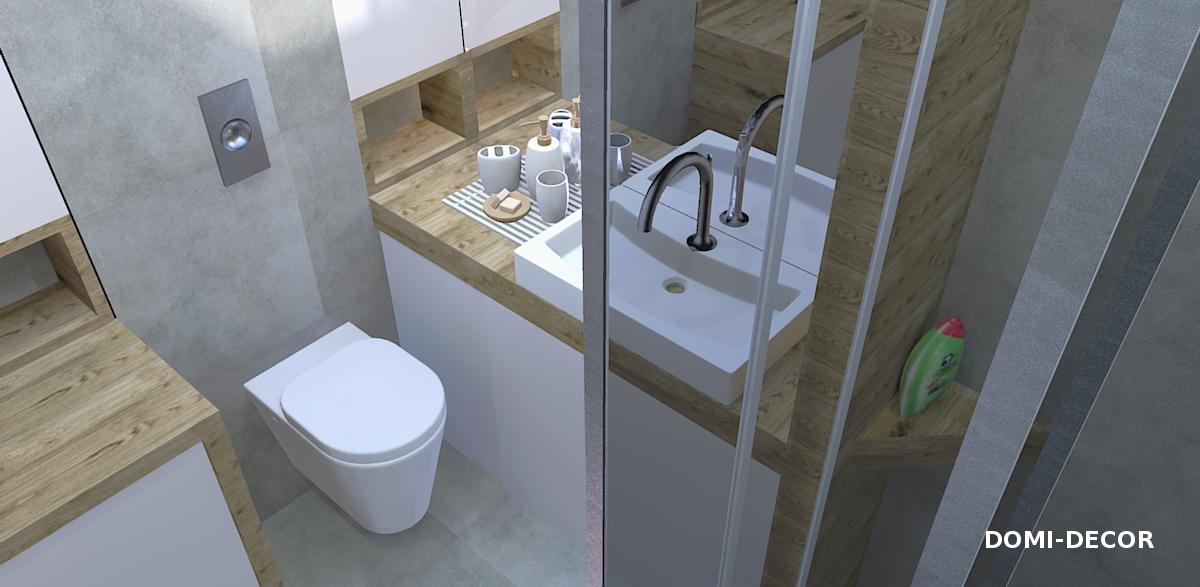 Beton I Drewno W łazience Domi Decor
