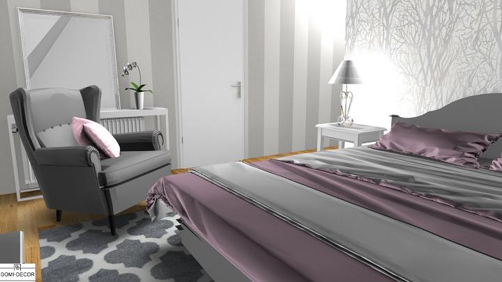 łączenie Wzorów Tapet Na Przykładzie Sypialni W Wielkim