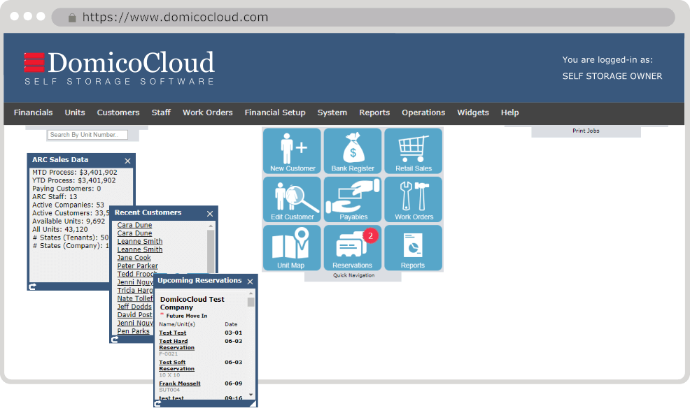 cloud self storage property management software