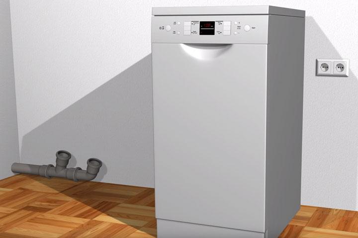 где установить розетку для посудомоечной машины