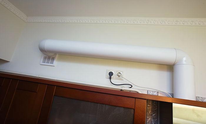 Helyes rendszer, de nem elegendő a kipufogó légcsatorna csatlakoztatásához