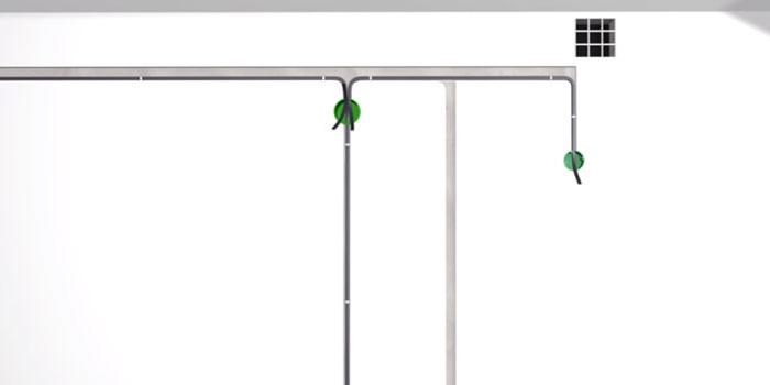 A kábelezés felszerelése a kipufogógáz csatlakoztatásához