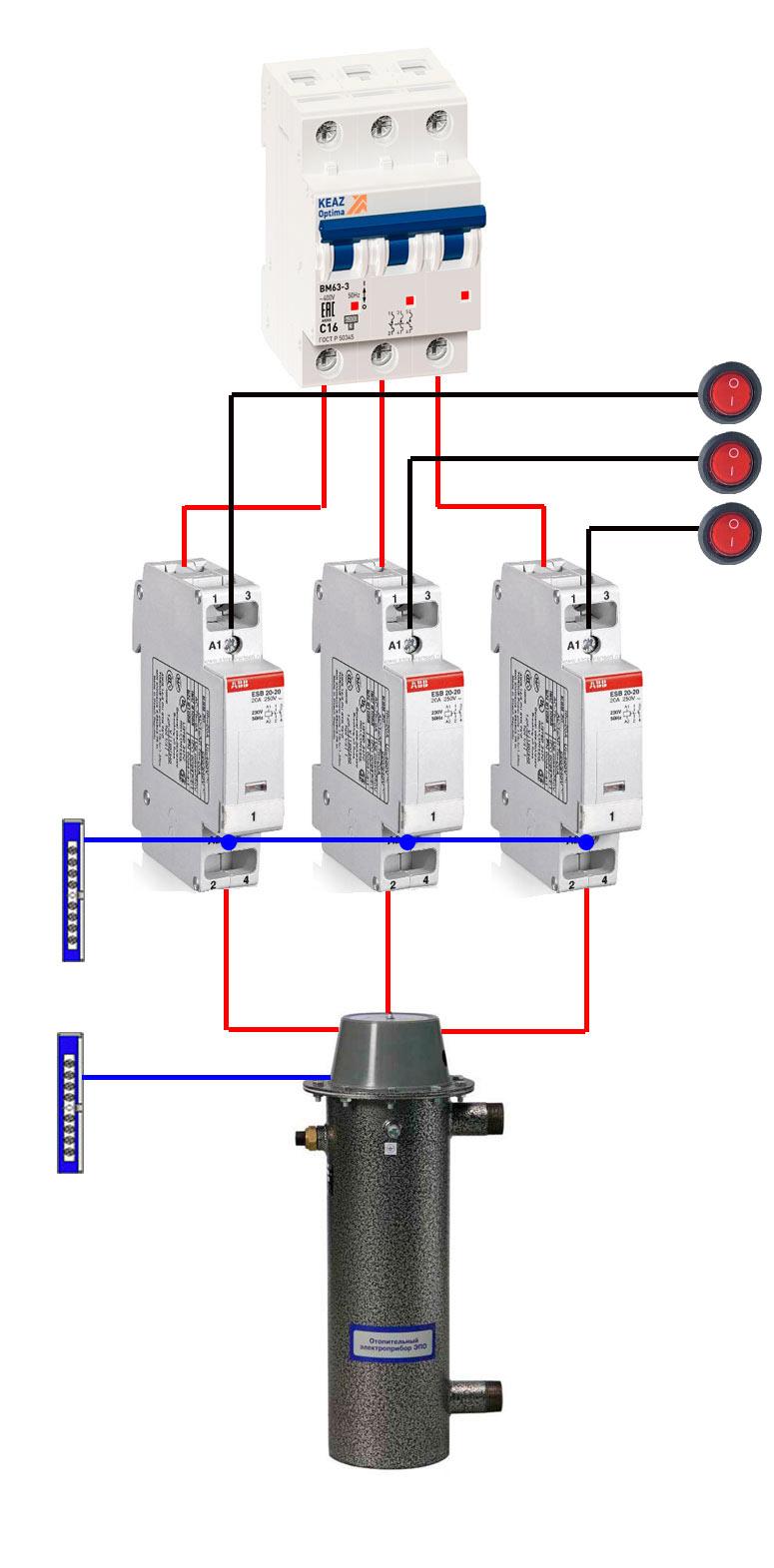 Cara Membuat Elemen Pemanas Tegangan Dc : membuat, elemen, pemanas, tegangan, Panel, Kontrol, Boiler, Listrik, Ketel