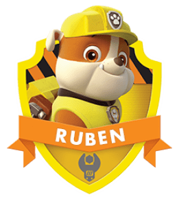 Ruben, un chiot de la Pat Patrouille