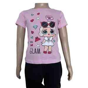 T-shirt manches courtes rose Lol surprise