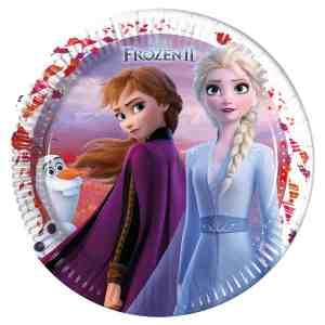 8 assiettes en carton la reine des neiges 2