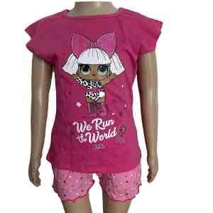 Ensemble short t-shirt rose Lol surprise