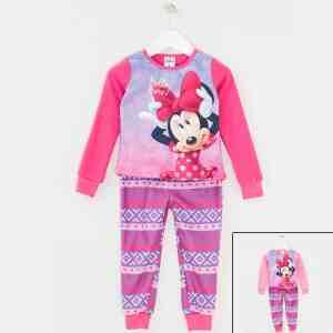 Pyjama polaire Minnie rose