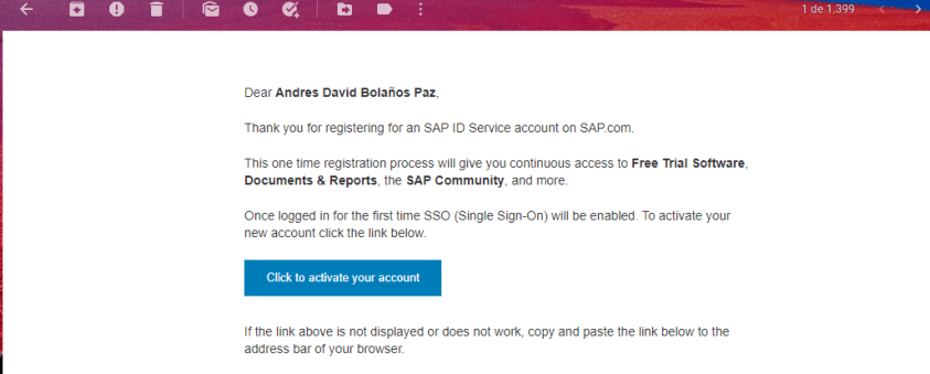 SAP - ACCOUNT - EMAIL - CHECK