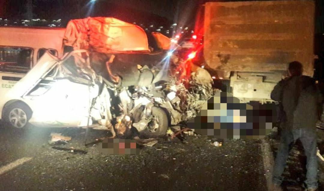 TRÁGICO ACCIDENTE EN AUTOPISTA MÉXICO-PACHUCA  DEJA AL MENOS 12 MUERTOS