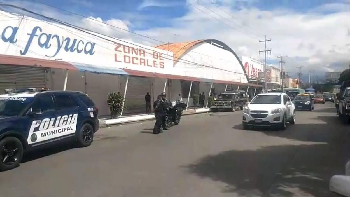 ALREDEDOR DE 50 HOMBRES ASALTARON CON VIOLENCIA AL MERCADO DE LA FAYUCA