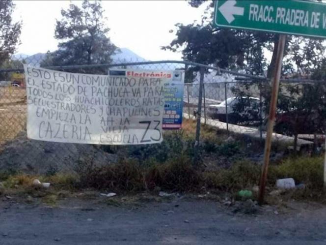 """""""YA ESTÁN ADVERTIDOS"""": AMENAZAN A HUACHICOLEROS DE HIDALGO"""