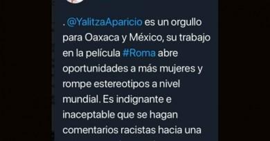 GOBERNADOR DE OAXACA DEFIENDE A YALITZA POR COMENTARIOS RACISTAS DE SERGIO GOYRI