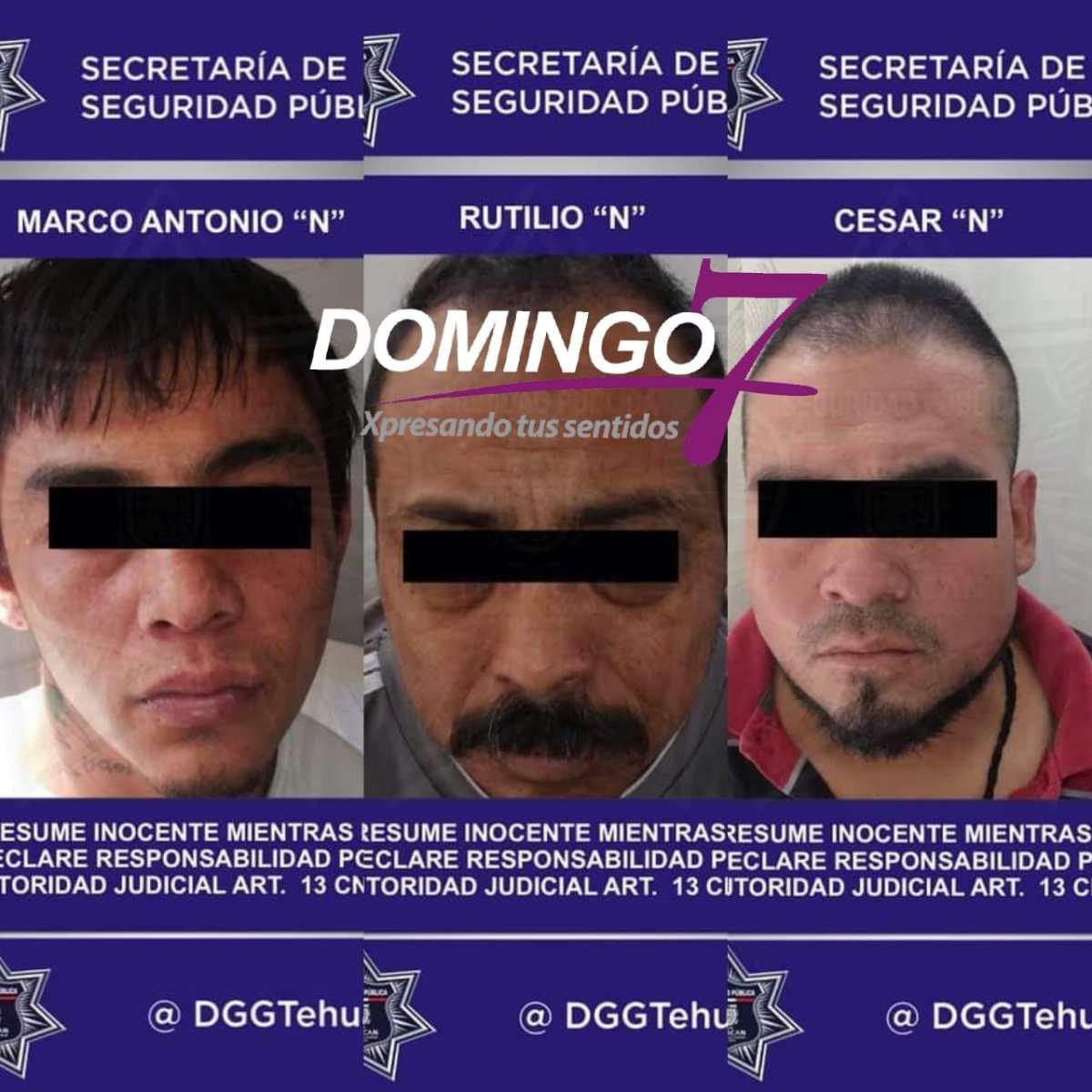 DETIENEN A 3 PRESUNTOS DELINCUENTES POR ROBO DE UNIDAD