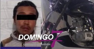 POLICÍAS DETIENEN A HOMBRE Y ASEGURAN MOTOCICLETA CON REPORTE DE ROBO