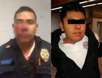 LE ARRANCÓ LA NARIZ A UN POLICÍA POR PROHIBIRLE ORINAR EN EL METRO