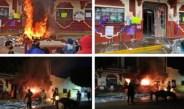 PROTESTAN QUEMANDO PALACIO MUNICIPAL POR LA MUERTE DE LA DOC. BEATRIZ EN HIDALGO