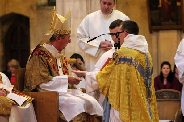 The anointing of Fr. Denis