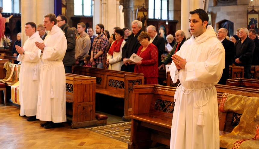 The three brothers to be ordained deacon