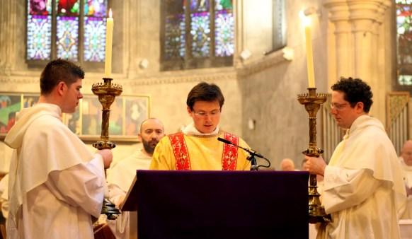 The Deacon reading the Gospel
