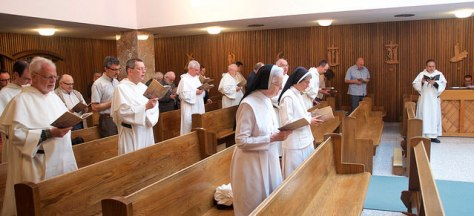 Lauds in the chapel.