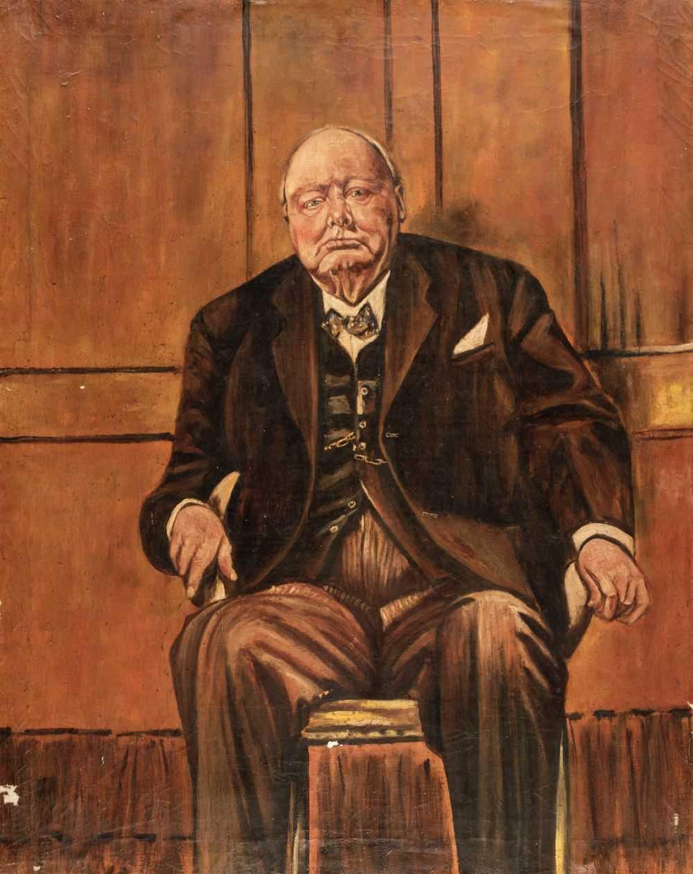 Winston Churchill Portrait Painting : winston, churchill, portrait, painting, Sutherland, (Graham,, 1903-1980,, After).
