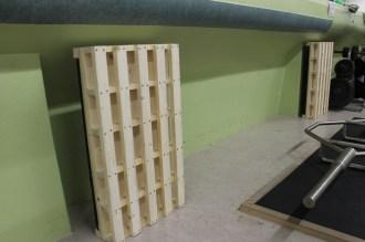 Die beiden Holzplattformen