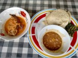 Polenta with fish in sauce (ugali dona samaki na juice) Migo Migo in Dar es Salaam TZS 2500
