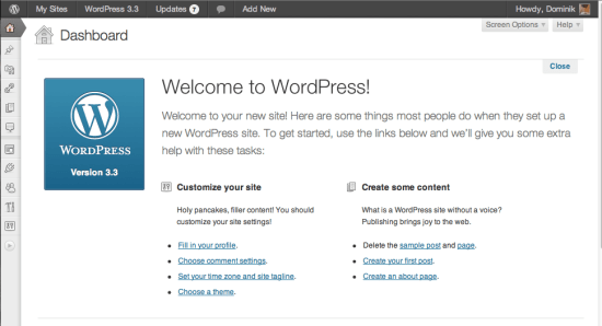 wordpress-welcome-panel