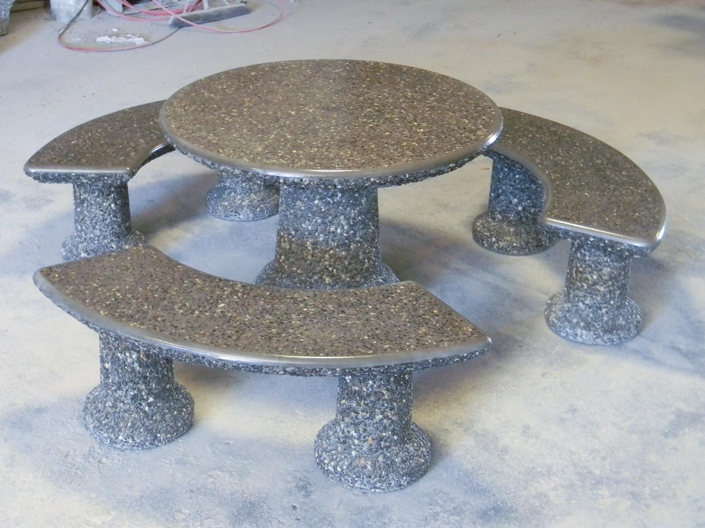 Concrete Patio Table Set