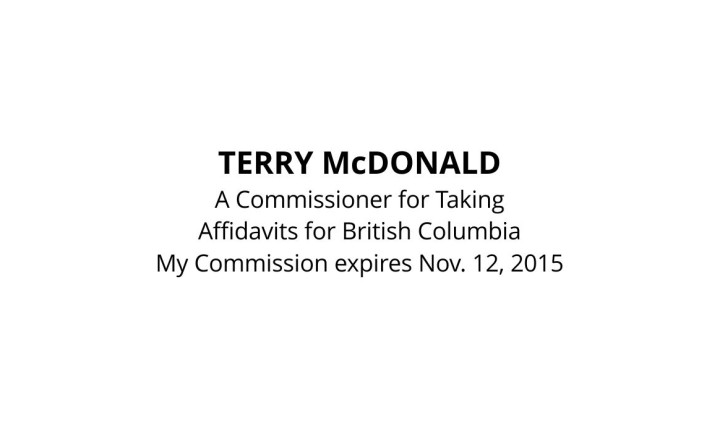 Commissioner for Taking Affidavits Stamp (British Columbia)