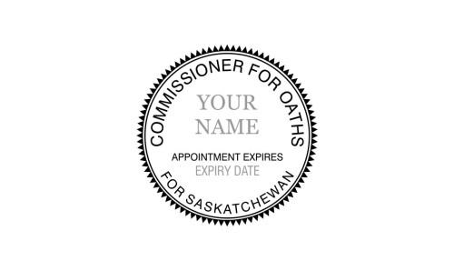 Commissioner for Oaths Statutory Declaration Stamp (SK)