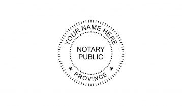 Barrister & Solicitor Notary Public Stamp
