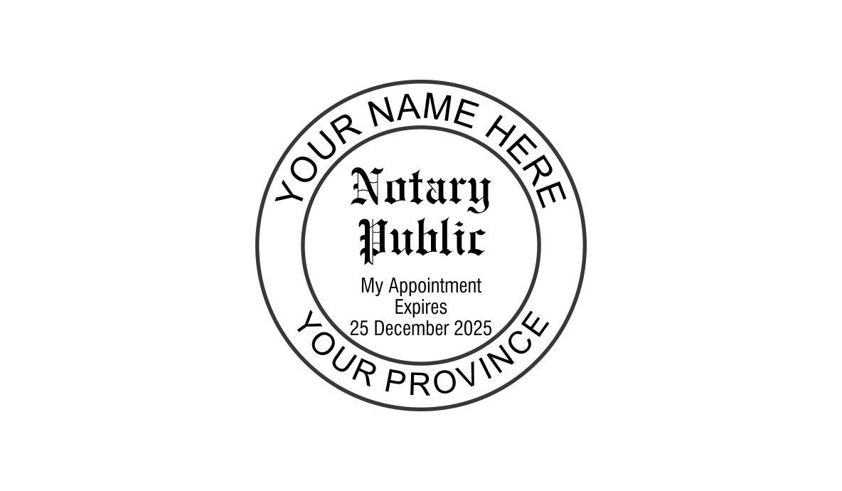 Notary Public Round Stamp w/ Expiry Date