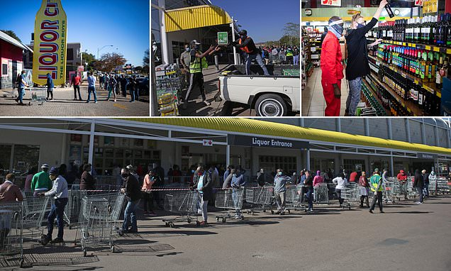 COVID-19: South Africans line up the street to buy alcohol after two-month drink ban ends