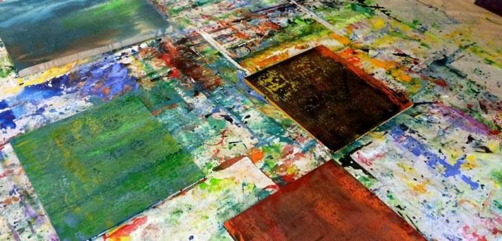 Dominiq Fournal - Toiles au sol - Peinture