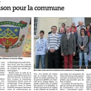 Charpentry inauguration blason 9 mai 2015