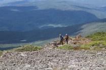 Des courageux en route vers le sommet du Xalibu