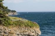 La cote depuis la route vers le phare de cap Gaspé