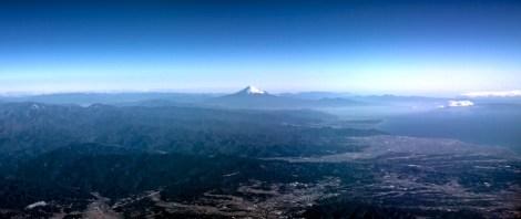 Mont Fuji vu du ciel.