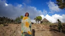 Village traditionnel, nord de l'Éthiopie.