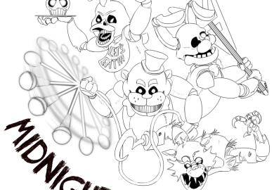 Freddy Fazbears Security Coloring Pages