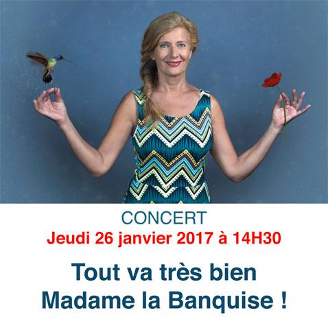 """Concert """"Tout va très bien Madame la Banquise"""""""