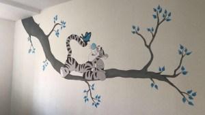 Teigertje muuurschildering