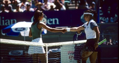 TENNIS - AUSTRALIAN OPEN 1997 - PHOTO : TENNIS MAG / DPPI DOMINIQUE MONAMI (BEL) VS ARANTXA SANCHEZ (ESP)