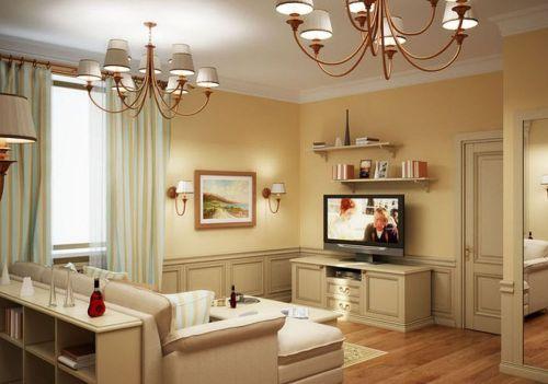 интерьер гостиной 18 кв. м. фото
